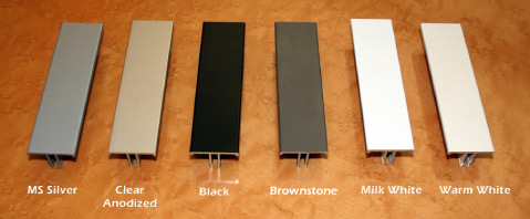 NxtWall Wall Frame Finish Colors