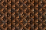 CAST IRON SQUARES RUSTED fusion wall panel
