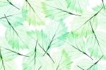 LEAVES MODERN GREEN AQUA fusion wall panel