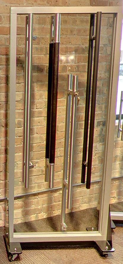 Leather wrapped handle door pull LFIC door hardware / matte black bar pull