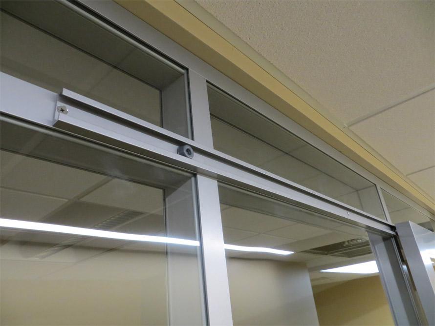 Sliding door rail detail