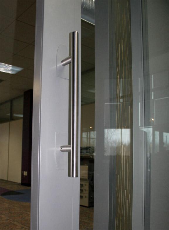 Standard 15-inch stainless steel barpull door hardware