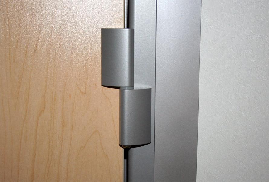 Standard swing door hinge ms-silver finish