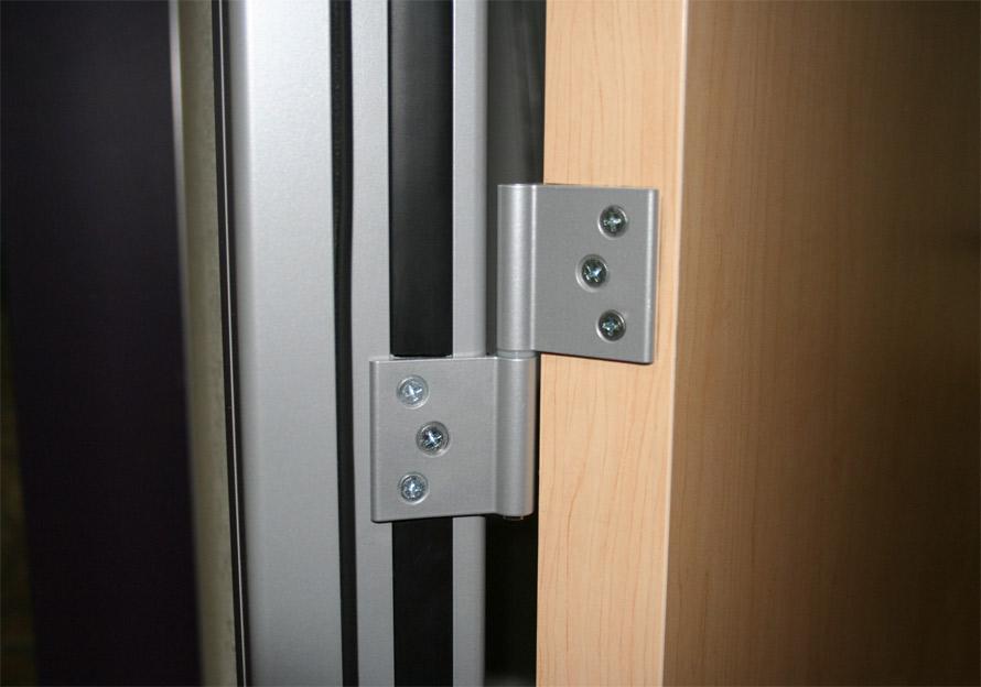 Standard swing door hinges with ms-silver powdercoat finish