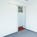 NxtWall elegant sliding frameless glass door with soft open/close door mechanism