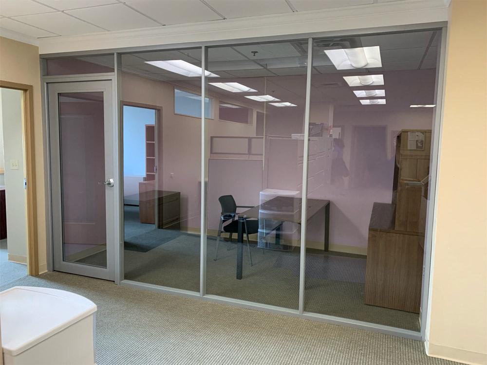 Corporate glass office Flex Series demountable walls