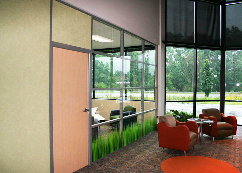 Flex Series Glass Front with Decorative Glass Panels