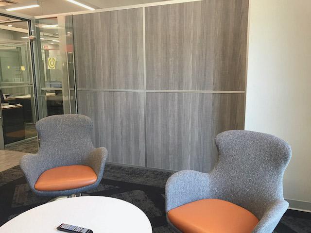 Flex Series with Formica Fox Teakwood Laminate Wall Panels