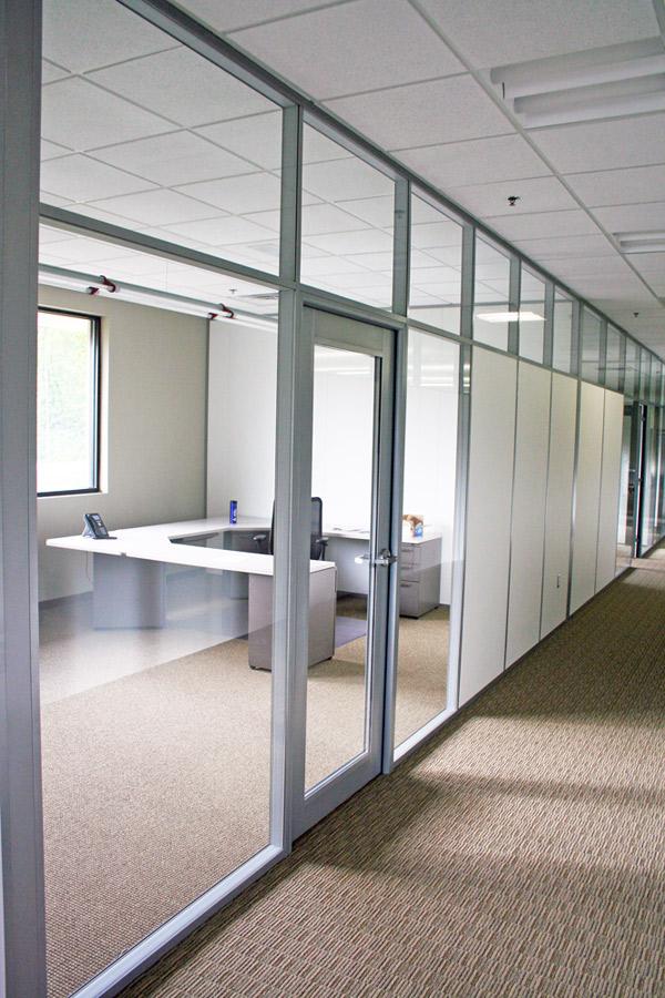 Glass clerestory standard aluminum framed door