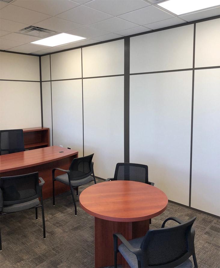 Flex Series solid interior demontable office walls