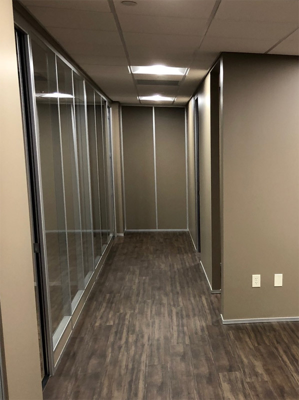 Floor-to-Ceiling full-height solid wall panel - Flex Series