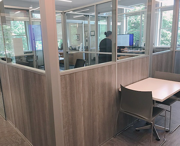 Free Standing Half Laminate Half Glass Offices - Flex Series
