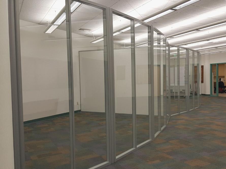 Freestanding Curved Flex Glass Walls