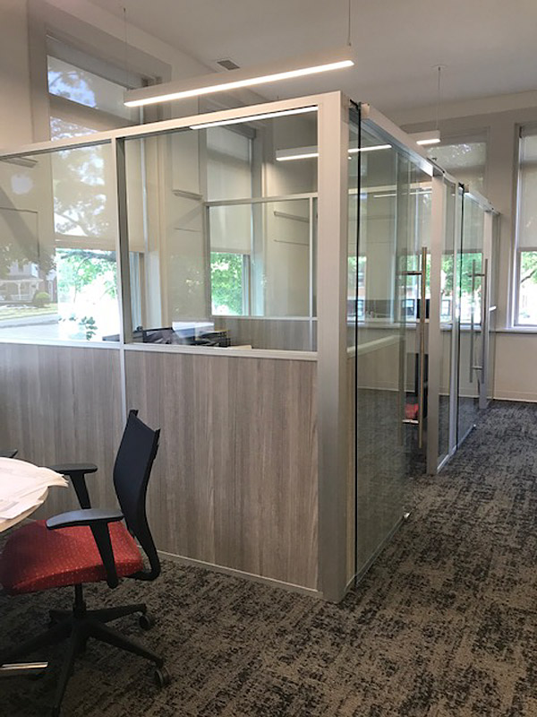 Freestanding Demountable Private Offices with Glass Doors