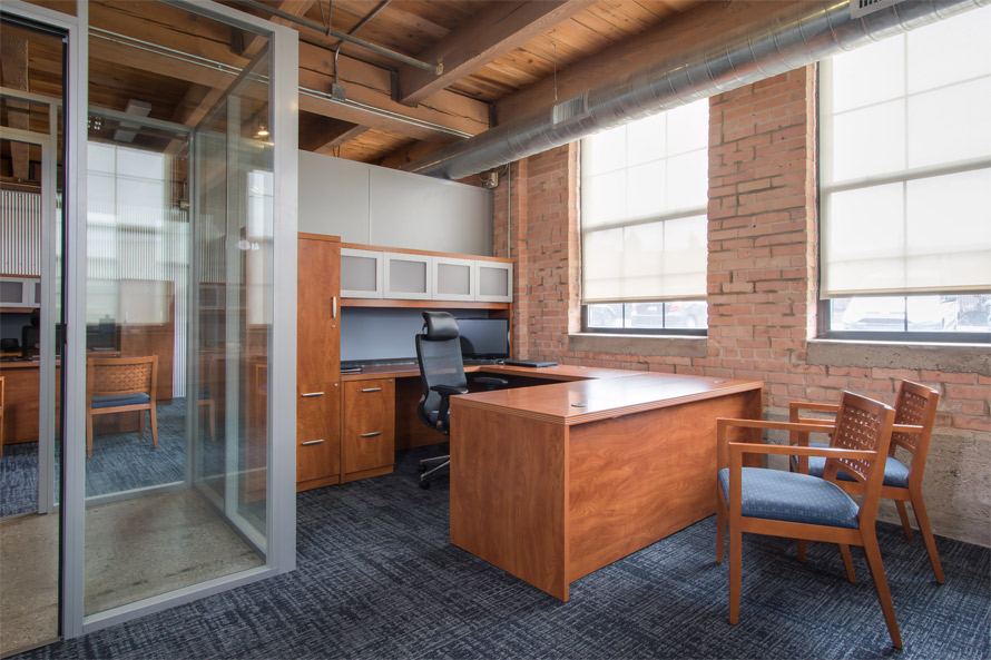 Freestanding Flex Series office walls - FNB Installation