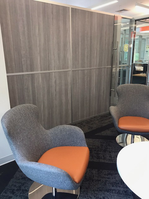 Freestanding Wall with Laminate Panels NxtWall - Flex Series