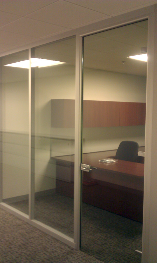 Full Height Glass Door with Anodized Aluminum Door Frame