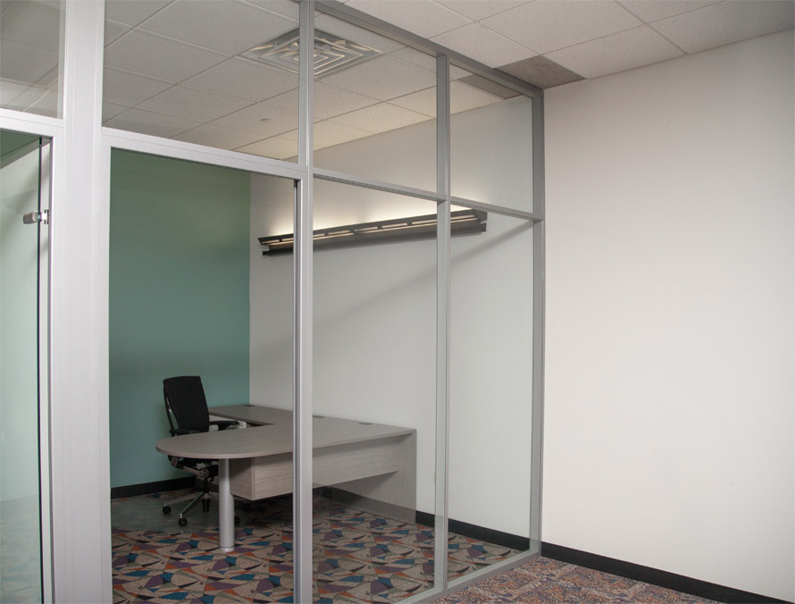 Glass Private Corner Office - Flex Series