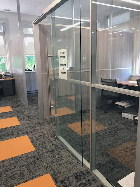 Glass and Solid Wall Free Standing Modular Offices