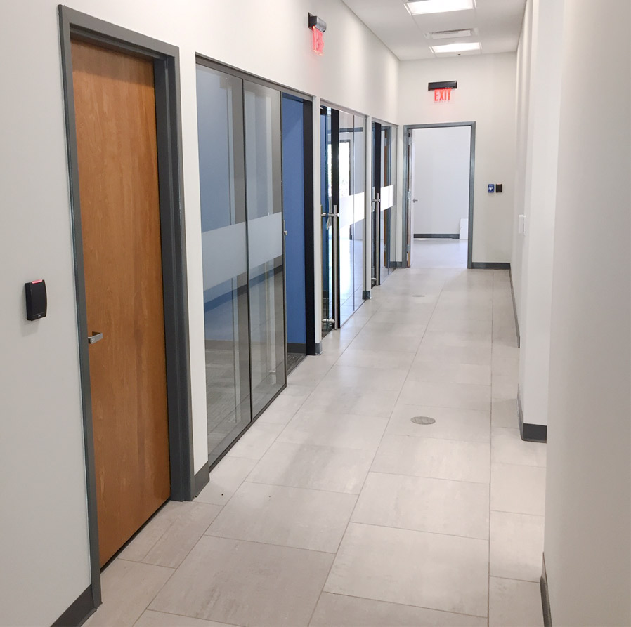 Glass wall offices with privacy window film - Flex Series
