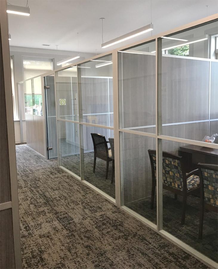 Non-Full Height Demountable Office Walls - Flex Series