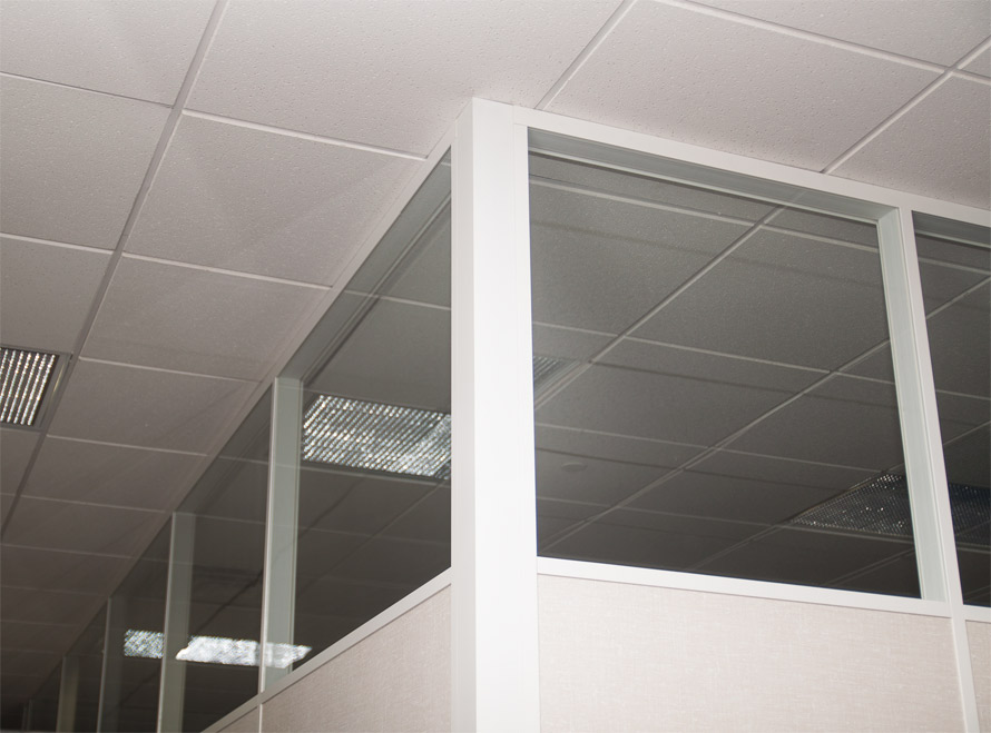 NxtWall glass clerestory and white colormatch- Flex Series
