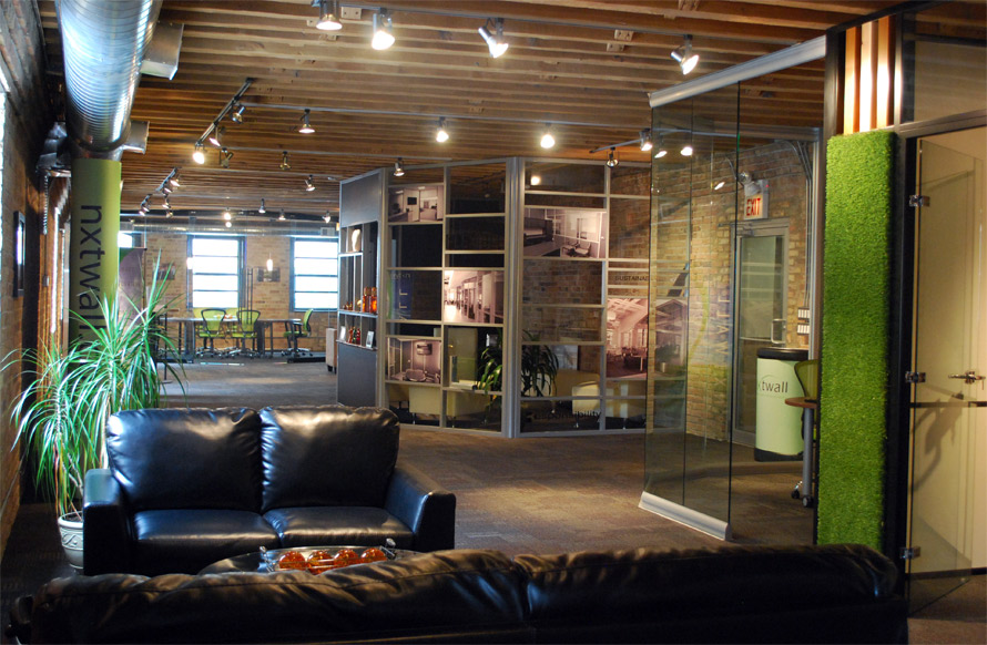 NxtWall Kinze Design Center 4th floor interior demountable wall showroom