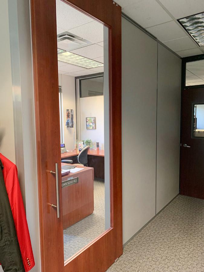 Wood Frame Full Lite Doors - Financial Institution Installation