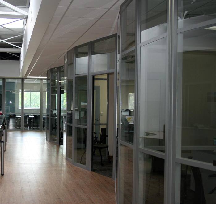 Flex Series Radius Corners Higher Education Glass Fronts