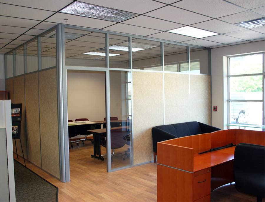 Solid Paneled Office with Clerestory and Sidelight