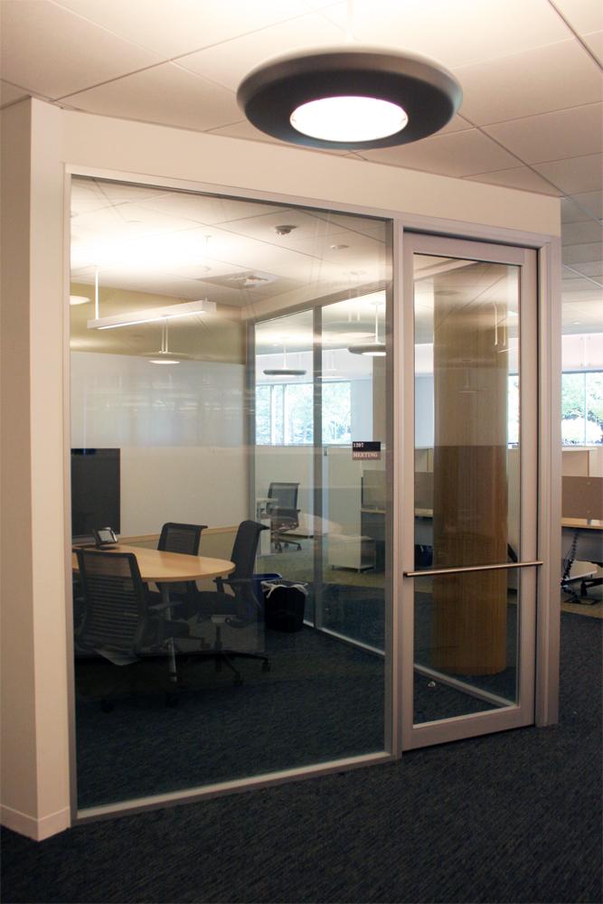 Flex Series - Glass Office with Aluminum Framed Glass Door