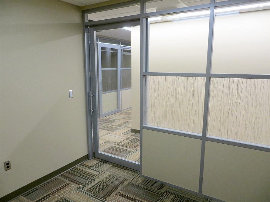 Flex series architectural walls with sliding door