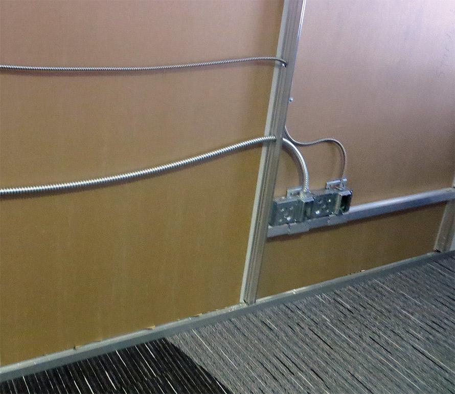Flex series wall electrical detail