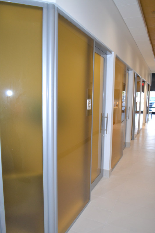 Healthcare office fronts - Nxtwall wall systems