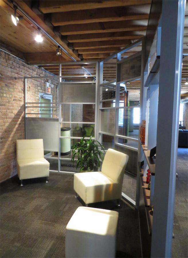 Multi-segmented demountable office walls by NxtWall