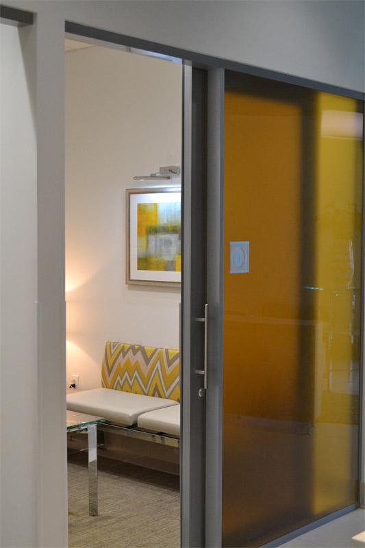 Space saving sliding glass doors