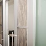 Aluminum framed double sliding custom doors