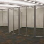 Radius Glass Freestanding Wall System - Flex Series