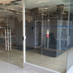 Double frameless glass doors with Magnetic Lock