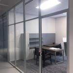 Contactless Electronic Card Reader Door Hardware - NxtWall Flex Series Glass Offices