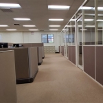 Fabric Tackable Wall Panels complementing existing systems furniture