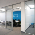 Flex Series Conference Room Walls with Privacy Window Film