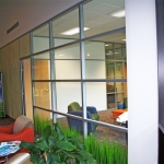 Flex Series Etched Glass Panels Segmented Glass Wall