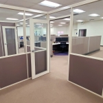 Flex Series Freestanding Glass and Fabric Paneled Offices