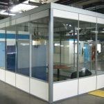 Flex Series freestanding demountable wall office