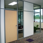 Glass and Solid panel Corner Office with Sidelight