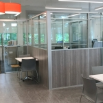 Flex Series Modular Laminate and Glass Freestanding Offices