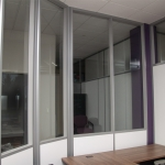 Radius Glass/Solid Wall Office - Flex Series