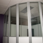 Radius Glass and Solid Office Walls