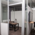 Radiused Solid and Glass Office - Flex Series